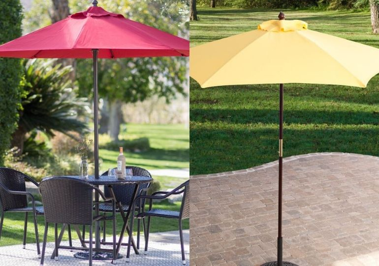 Patio umbrellas feature