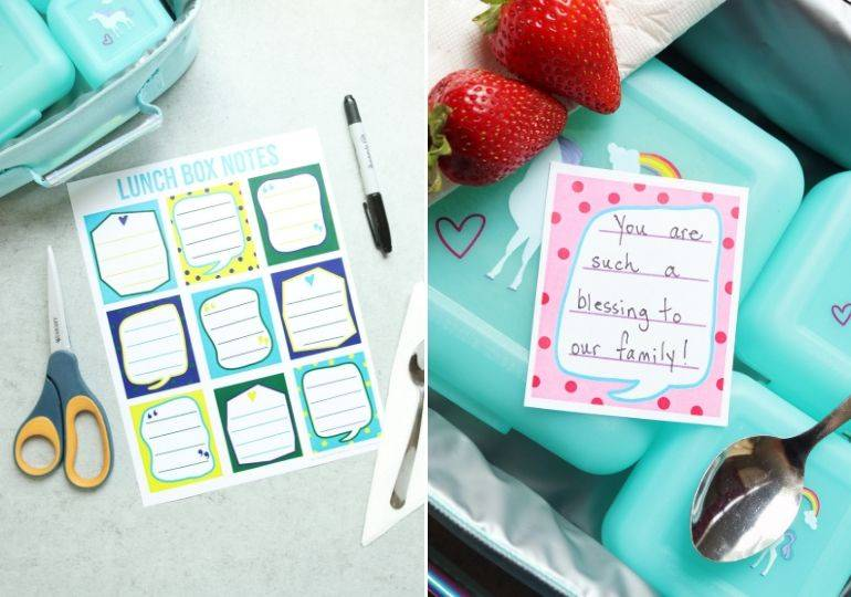 back to school lunch box notes