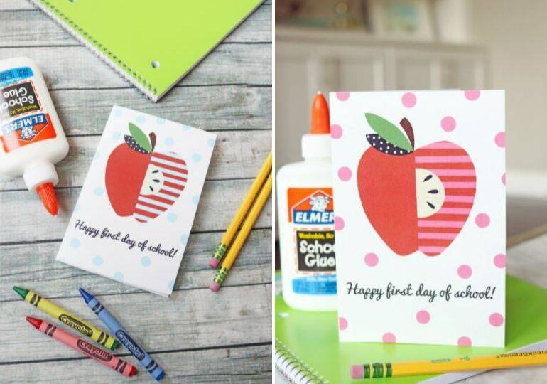 880b0a3d5549b FREE Printable First Day of School Card for A Teacher Gift Idea ...