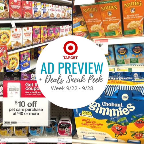 graphic relating to Tuesday Morning Printable Coupon called Aim Advert Preview SNEAK PEEK at the Easiest Specials! 7 days of 9/22