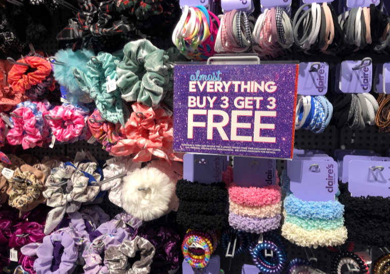 Claire's Scrunchies on Sale