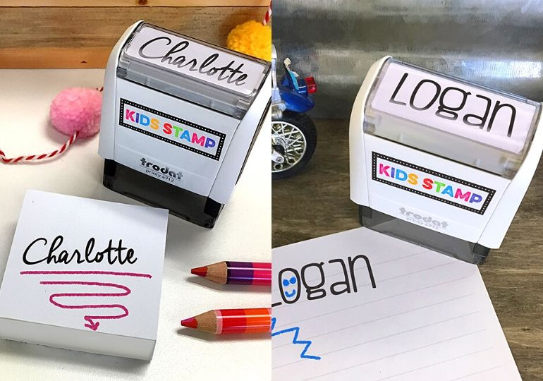 personalized name stamps featured