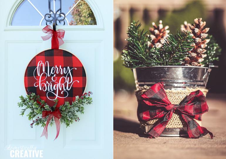 Diy Buffalo Plaid Christmas Decor Ideas You Can Make On A Budget Passion For Savings