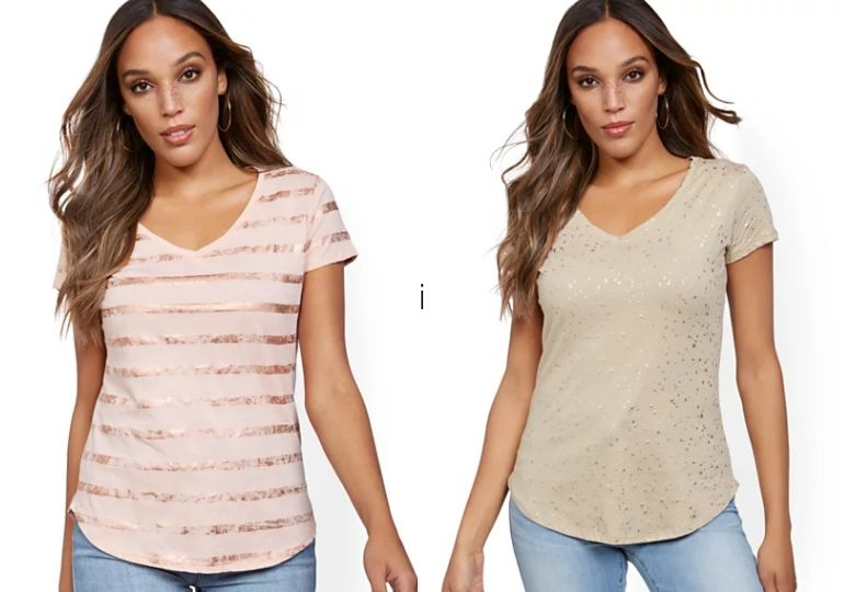 New York & Company Women's Tees on Sale - woman in tee