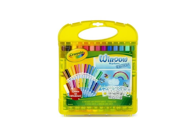 crayola window art set - stock photo