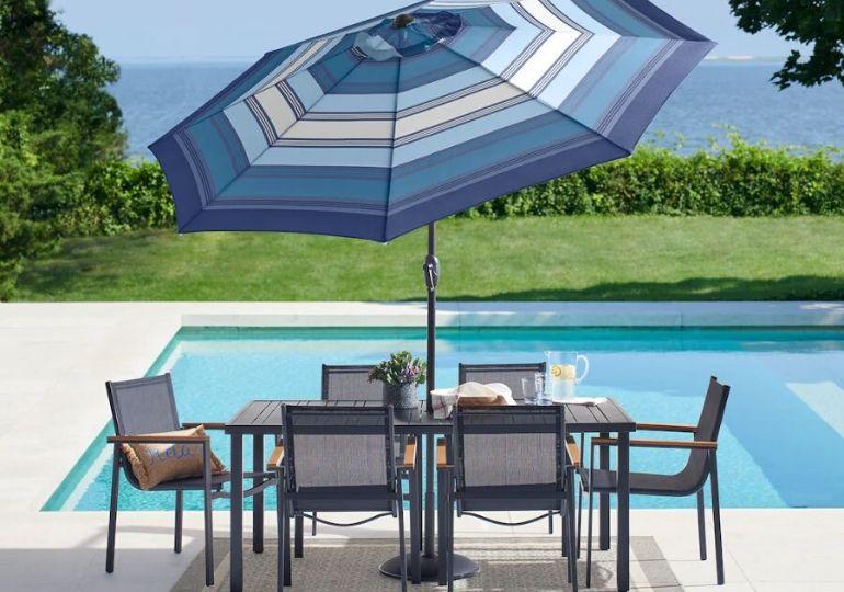 Patio Umbrella Deals - umbrella on patio table