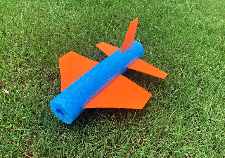foam pool noodle craft plane