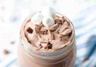 whipped hot chocolate drink