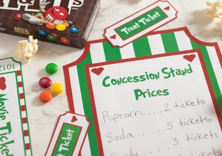 concession stand party printable