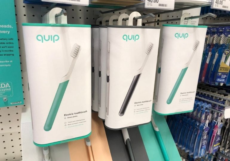 Black Friday Quip Deals - toothbrushes in store
