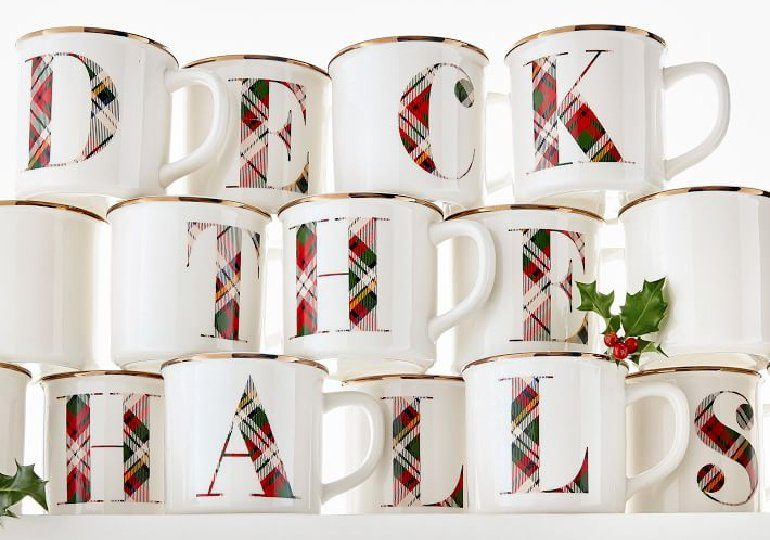 Pottery Barn Initial Mugs on Sale