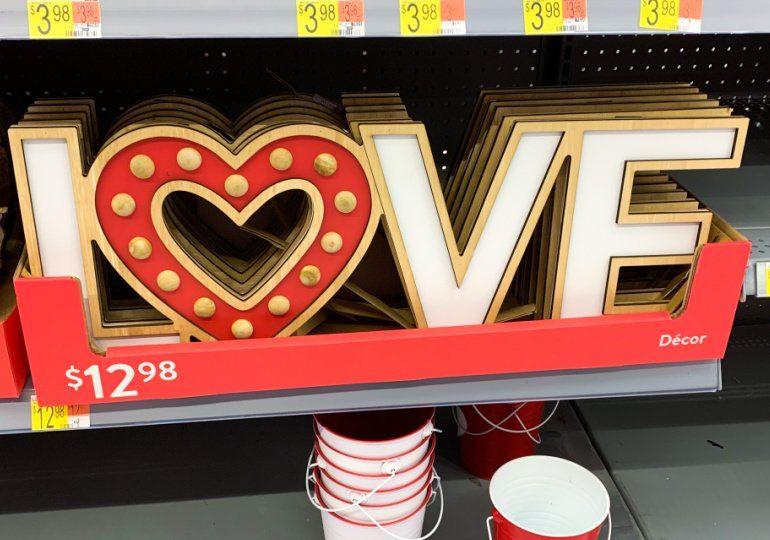 Walmart Valentines decor