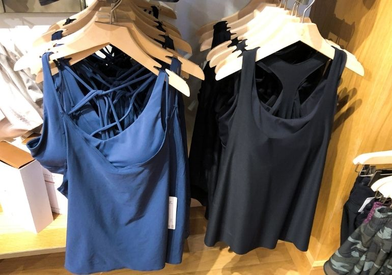 Athleta Clothing on Sale - tanks in store