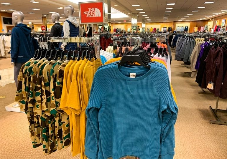 Dillard's Clearance Sale - shirts in store