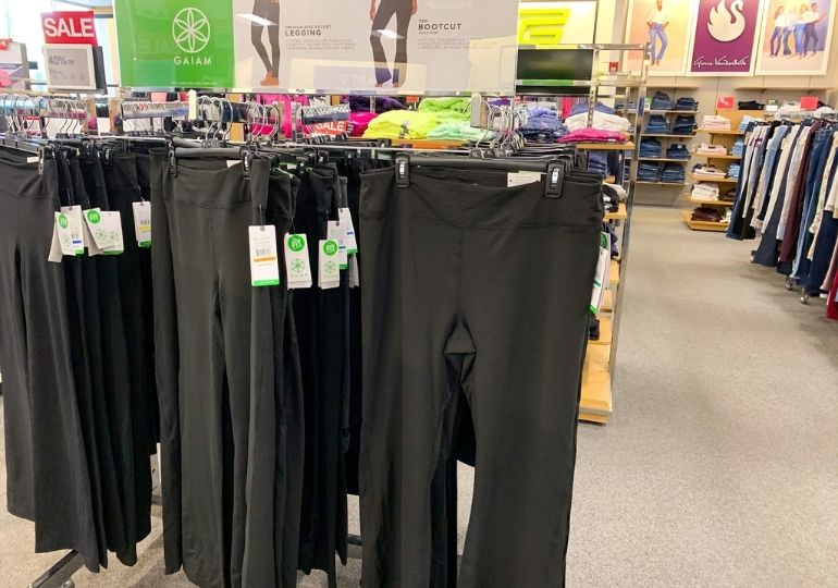 Gaiam Workout Clothing on Sale - workout pants in store