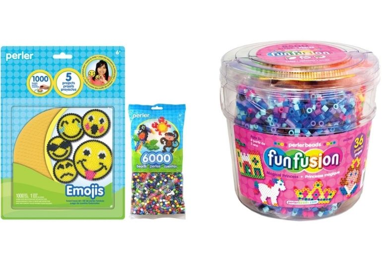 Perler Beads - bead set and container