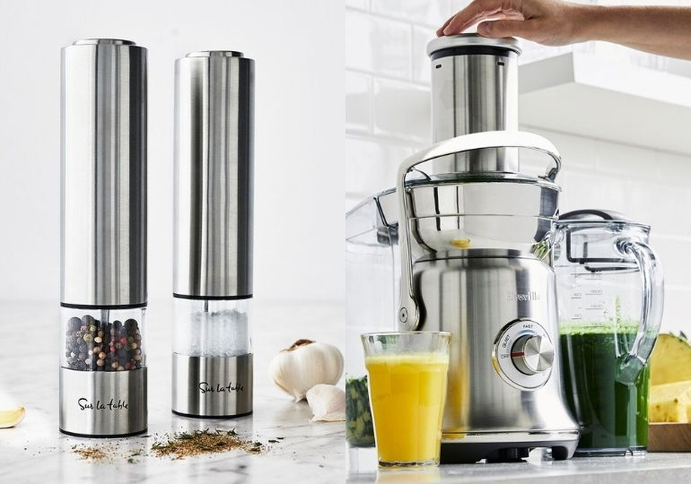 Sur La Table Overstock Sale - salt & pepper mills and juicer