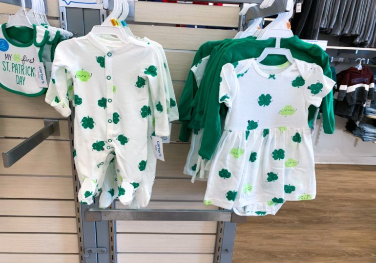 Carters St. Patrick's Day Clothing on Sale