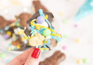 easter bark being held up