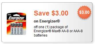 Energizer Battery Coupon
