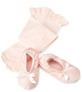 Capezio Pre-Ballet Ballet Shoes and Tights Gift Pack
